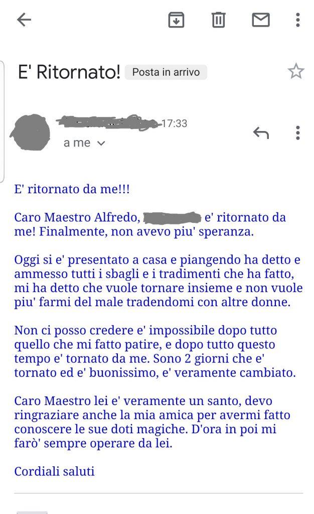Maestro Alfredo Testimonianze Recensioni